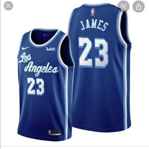 Brand new lebron James blue L or XL Jersey.